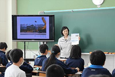 横浜市立希望ヶ丘中学校で職業講話が開催されました。