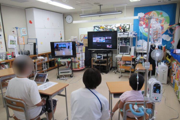 院内学級の小・中学生にオンライン工場見学を実施!