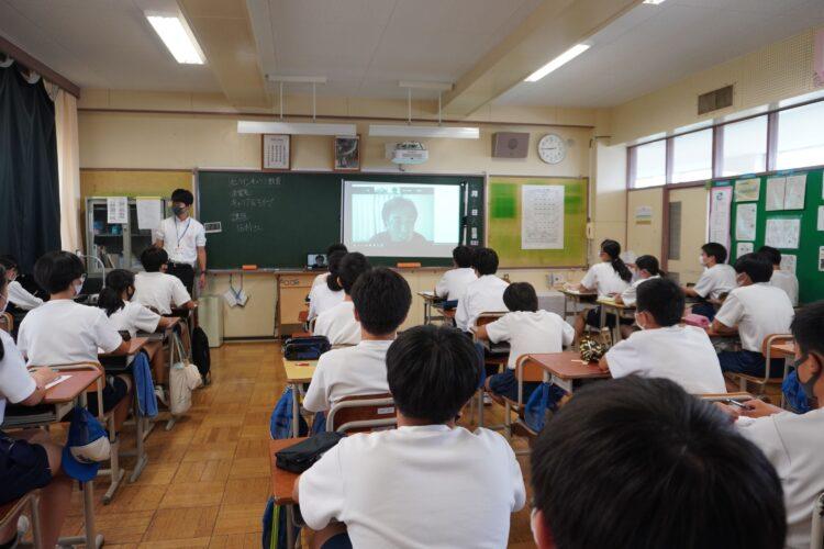 土浦市立土浦第三中学校で、オンライン職業講話を開催しました!【クラファン支援第3弾】